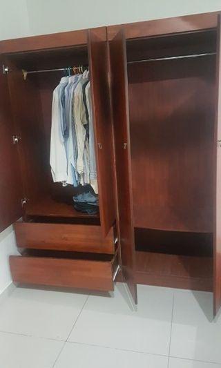 Solid Wood Big wardrobe 4 doors / Almari