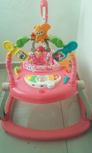 Baby Walker Jenama BabyQiner Pink
