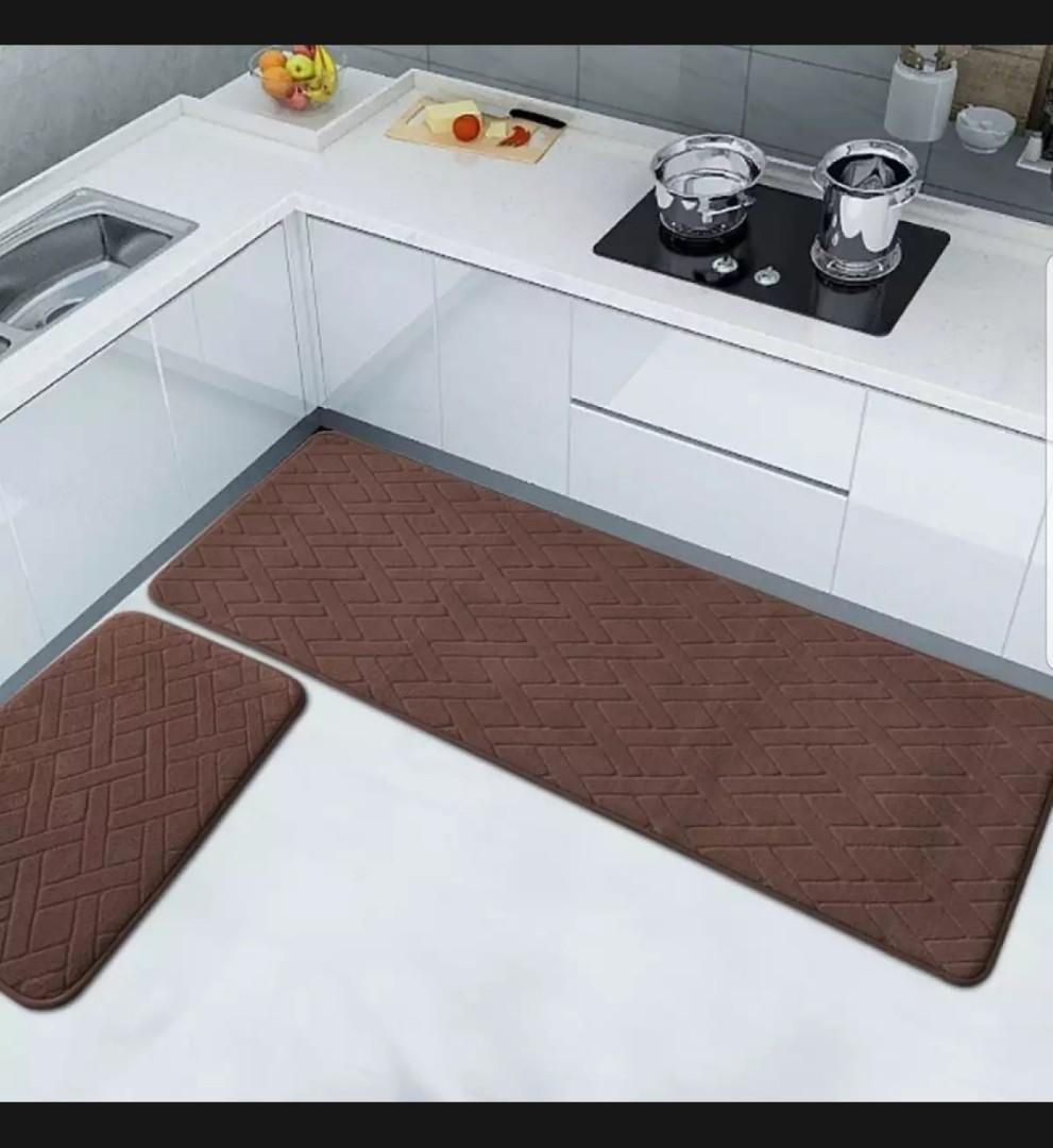 0 Kitchen Floor Mat Thick Kitchen Water Absorption Mat Anti Oil Strip Coaster Kitchen Rug Doorway Mat Doormat Everything Else On Carousell