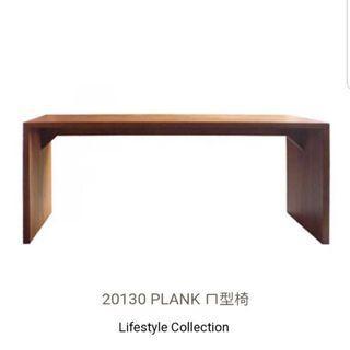 詩肯柚木長凳 ㄇ字椅 全新