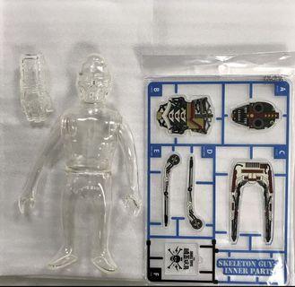 Skulltoys GUY-2 紐約 骷髏人 骨骸 頭蓋玩具 透明
