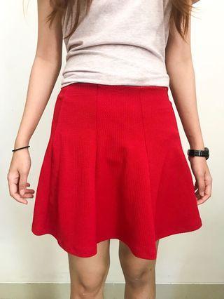 Red Skirt PULL&BEAR