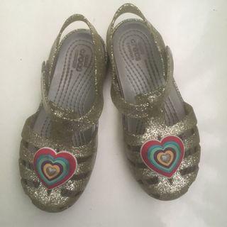 Crocs Glitter Silver Sandal Size 12