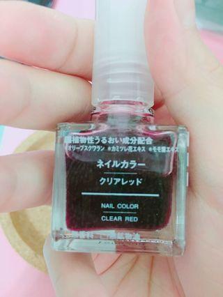 無印良品血色指甲油+無印良品奶茶(新)