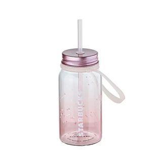 Korea Starbucks Summer Night Pink Glass Cold Cup 473ml