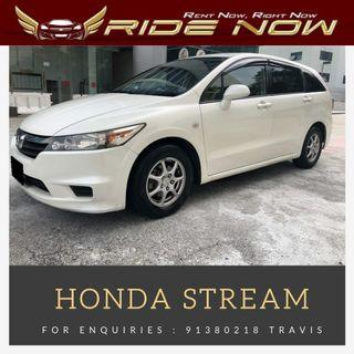 Honda Stream 1.8A Multi purpose usage vehicle for Family Trips and Group Outings! Private Hire Ready!