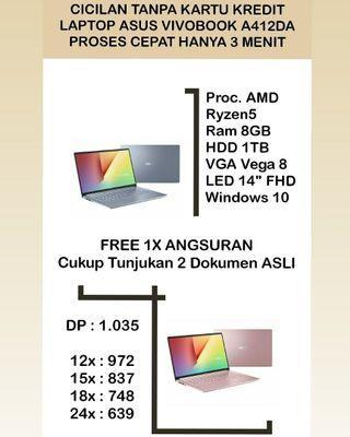 Laptop Asus Vivobook A412DA Ryzen5 Bisa Cicilan Tanpa Bunga