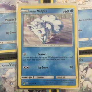 Alolan Vulpix Alt Art TCG Pokemon Card