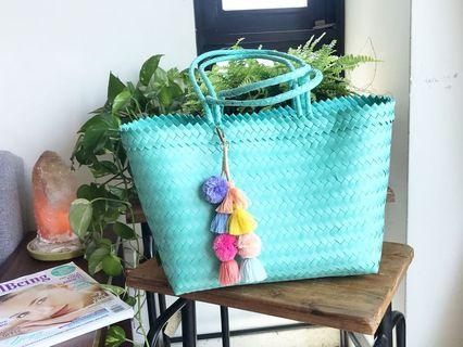 Handwoven handmade bag by villagers