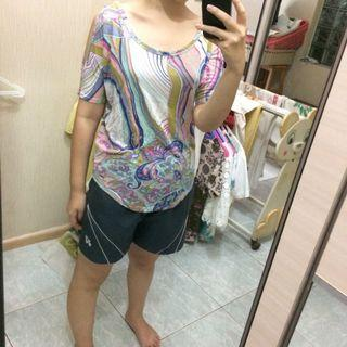 #1010flazz Clockhouse batwing abstract top