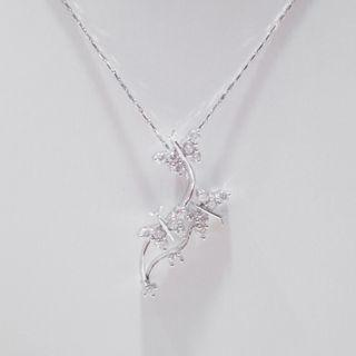 Floral Butterfly Diamond Pendant