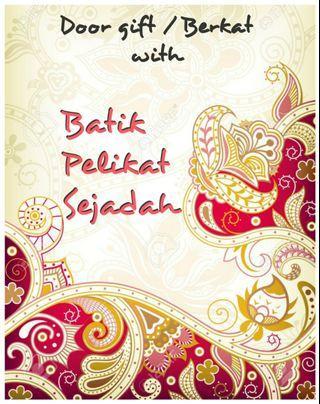 Door gift Berkat with Batik Pelikat