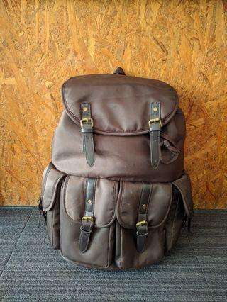 Brown Backpack rucksack zinc