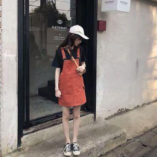 [二手] 減齡俏麗磚紅色吊帶裙
