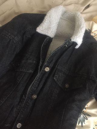 黑色羔羊外套