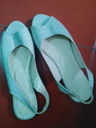 flatshoes silver gliter