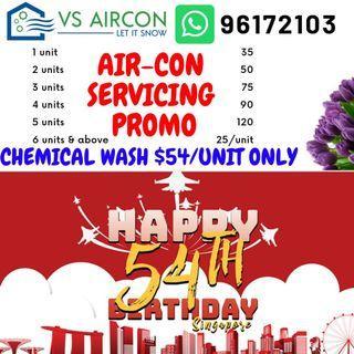 Aircon Servicing National Day Promo
