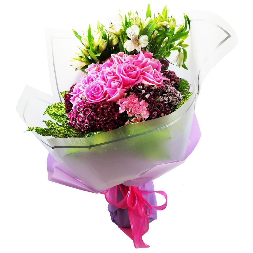 18枝瑪莉亞玫瑰花束