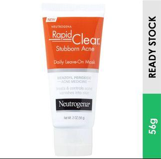 Rapid Clear Daily Leave-On Mask for  Stubborn Acne , Neutrogena (56 g)