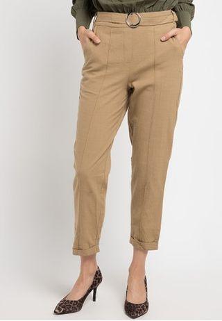 Celana Wanita / Highrise Linen Pants/ Celana Novel Mice