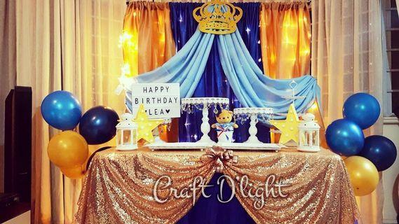 Royal Blue Prince Theme Party Decorations