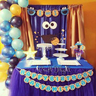 Cookie Monster Theme Party Decorations
