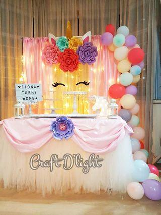 Unicorn Theme Party Decorations