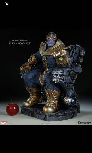 Sideshow Thanos on throne Maquette