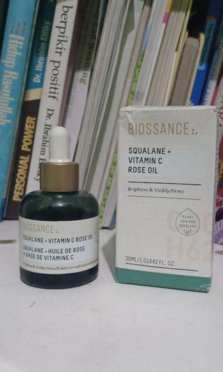 Biossance squalane vit c rose oil