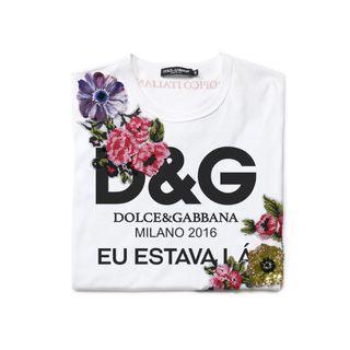 Dolce & Gabbana floral appliqué t shirt