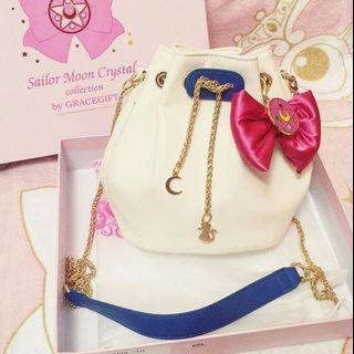 Authentic Gracegift Sailormoon Bucket Sling Handbag (not Samantha Thavasa)
