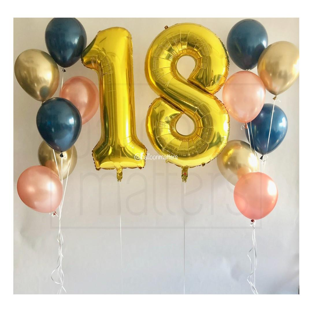 40 Inch Helium Inflated Number / Letter