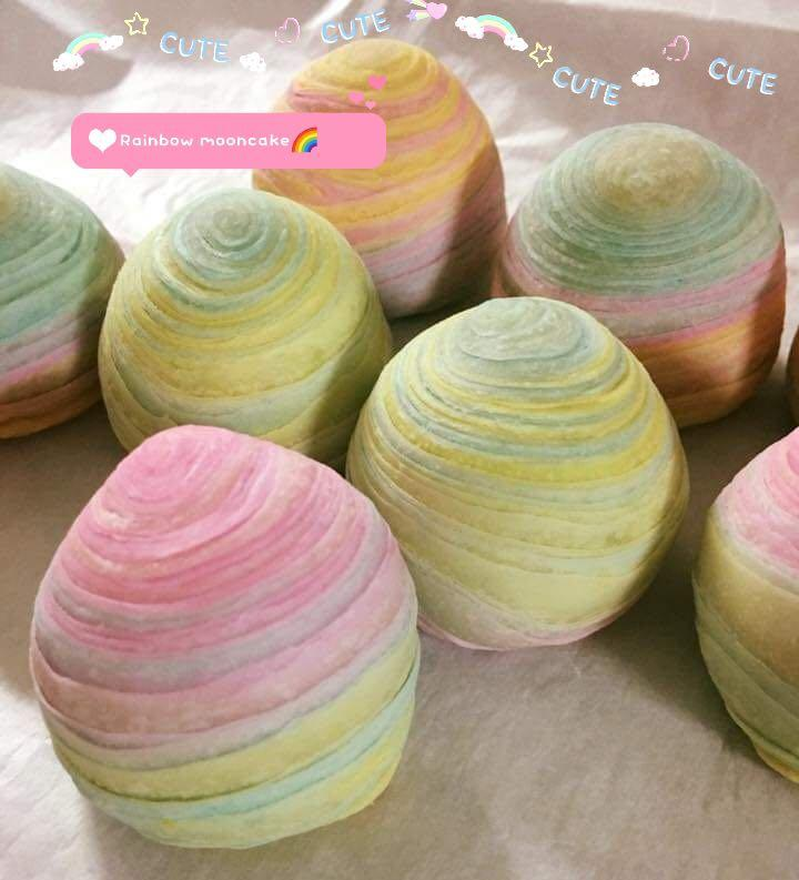 5pcs Rainbow Mooncakes