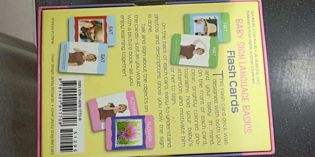 Baby Flash Cards Sign Language, Babies & Kids, Toys