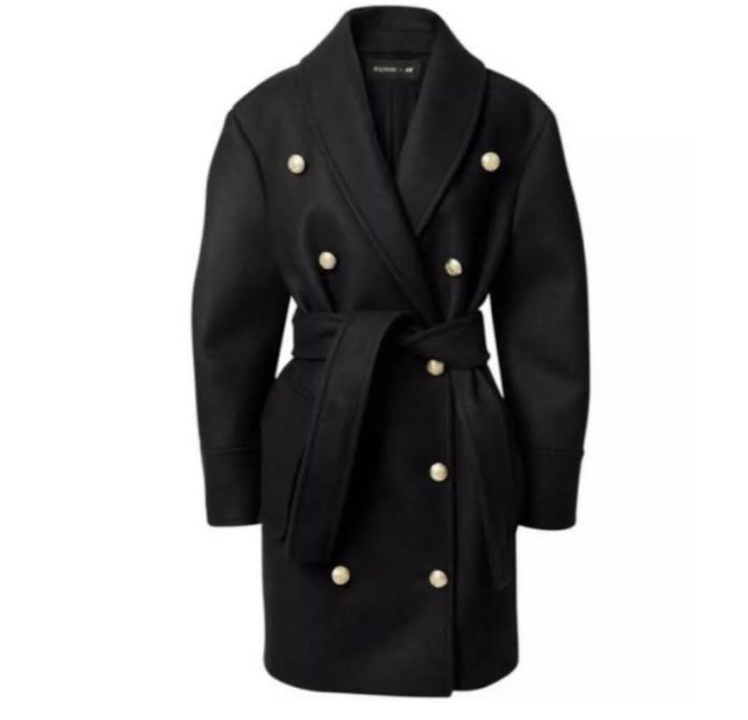 Balmain X H&M Limited edition Dark Blue Wool Blend Gold Buttons Size 8 (big make)
