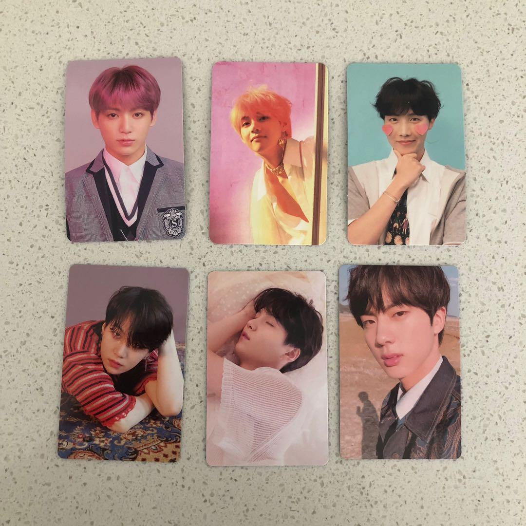 BTS JUNGKOOK V JHOPE SUGA JIN LOVE YOURSELF PHOTOCARDS