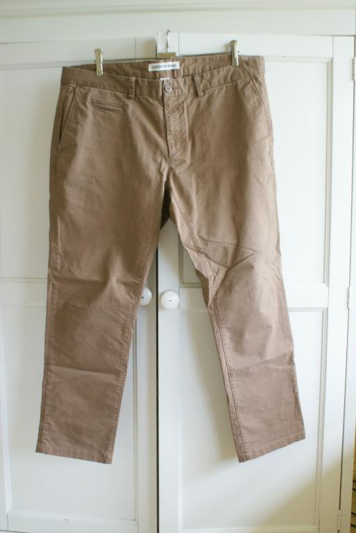 Country Road Slim Stretch Chino Pants | Men's Size 38 | Tan