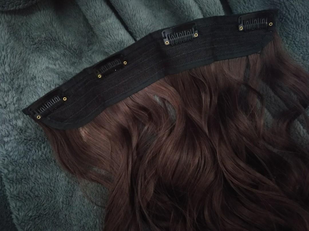 Hairclip Curly Dark Brown