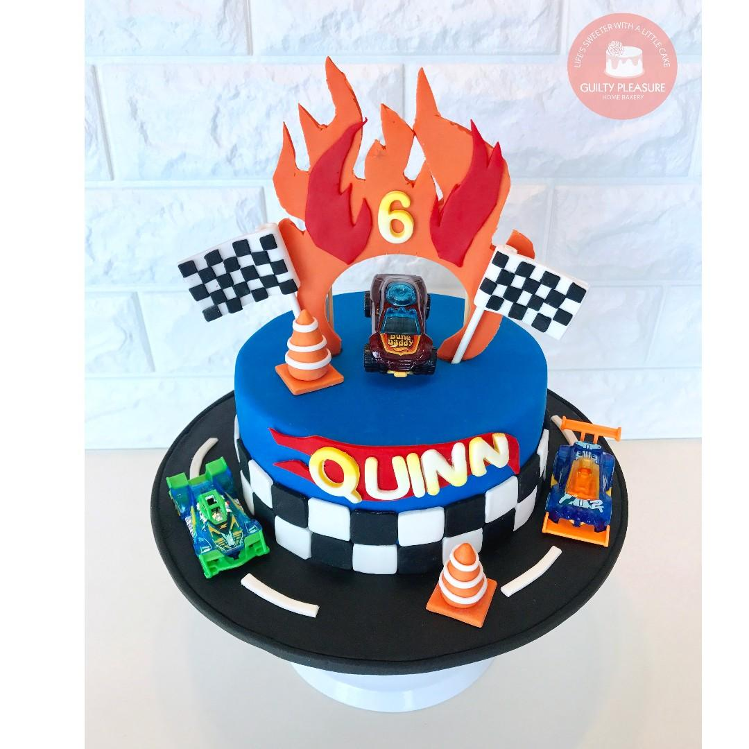Enjoyable Hotwheels Birthday Cake Food Drinks Baked Goods On Carousell Funny Birthday Cards Online Chimdamsfinfo