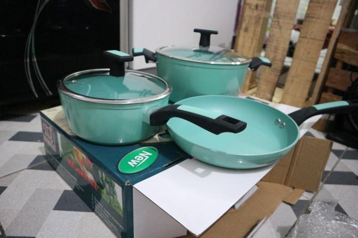 Jual Cookware set Panci Katel Pan Cooking set