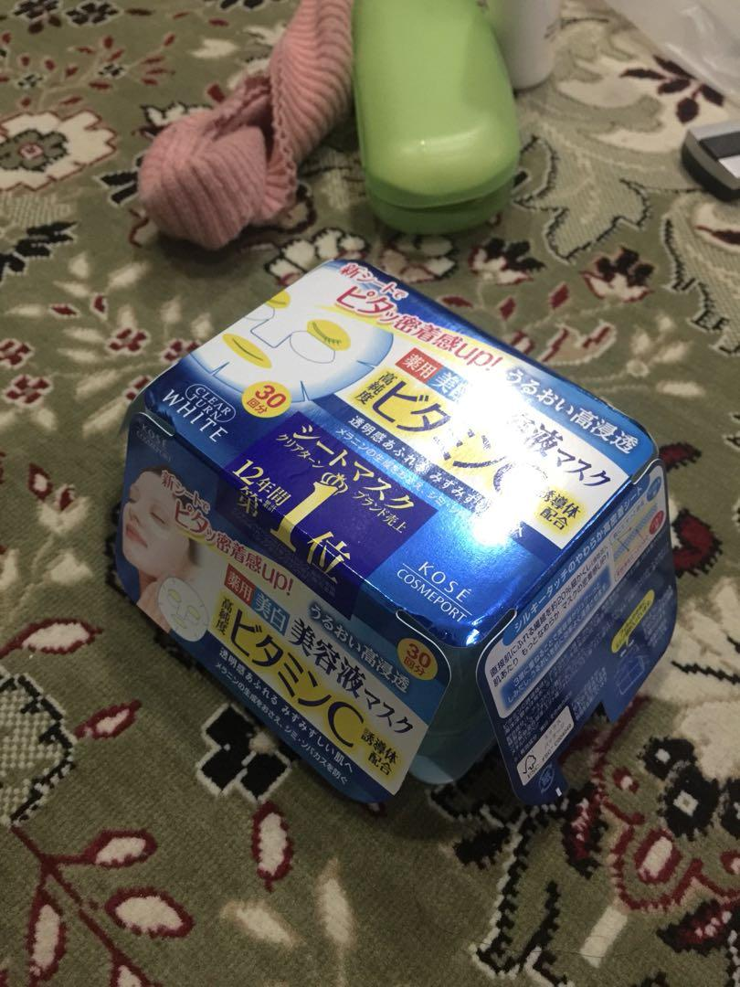 KOSE Sheetmask (Isi 30pcs) READY 10 PACK ORI FROM JAPAN