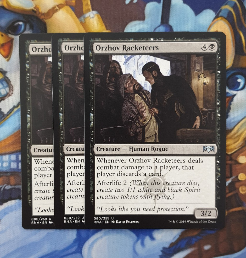 Magic The Gathering Orzhov Racketeers Card Toys Games Board Games Cards On Carousell It is not played in any current format. magic the gathering orzhov racketeers card
