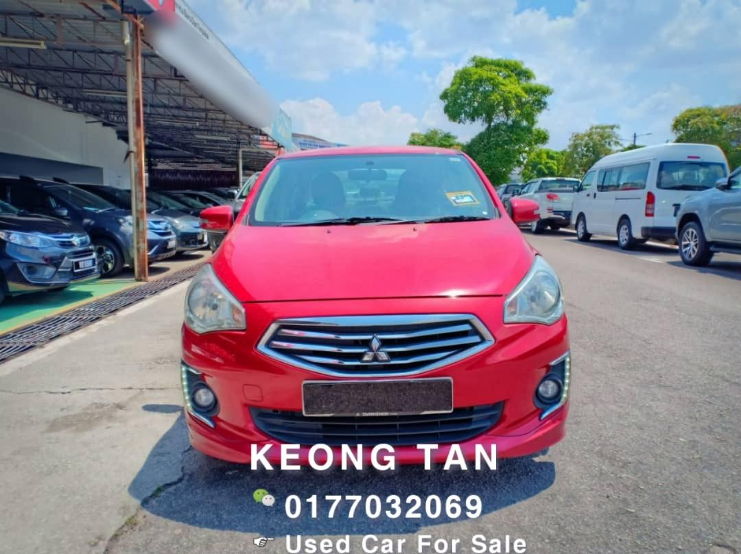MITSUBISHI ATTRAGE 1.2AT SE 2013TH FULL SPE🎉Cash💰OfferPrice💲Rm26,300 Only‼ Lowest Price InJB 🎉📲 0177032069 Keong‼🤗