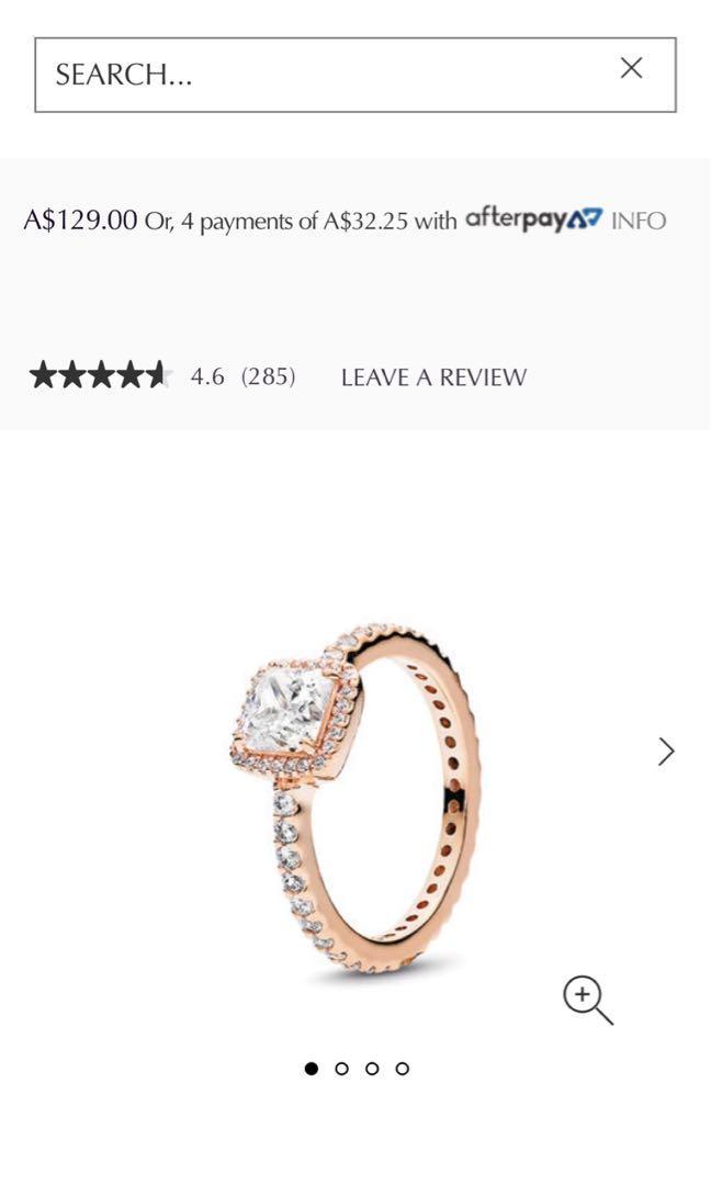 Pandora Square Sparkle Ring / Rose Timeless Elegance