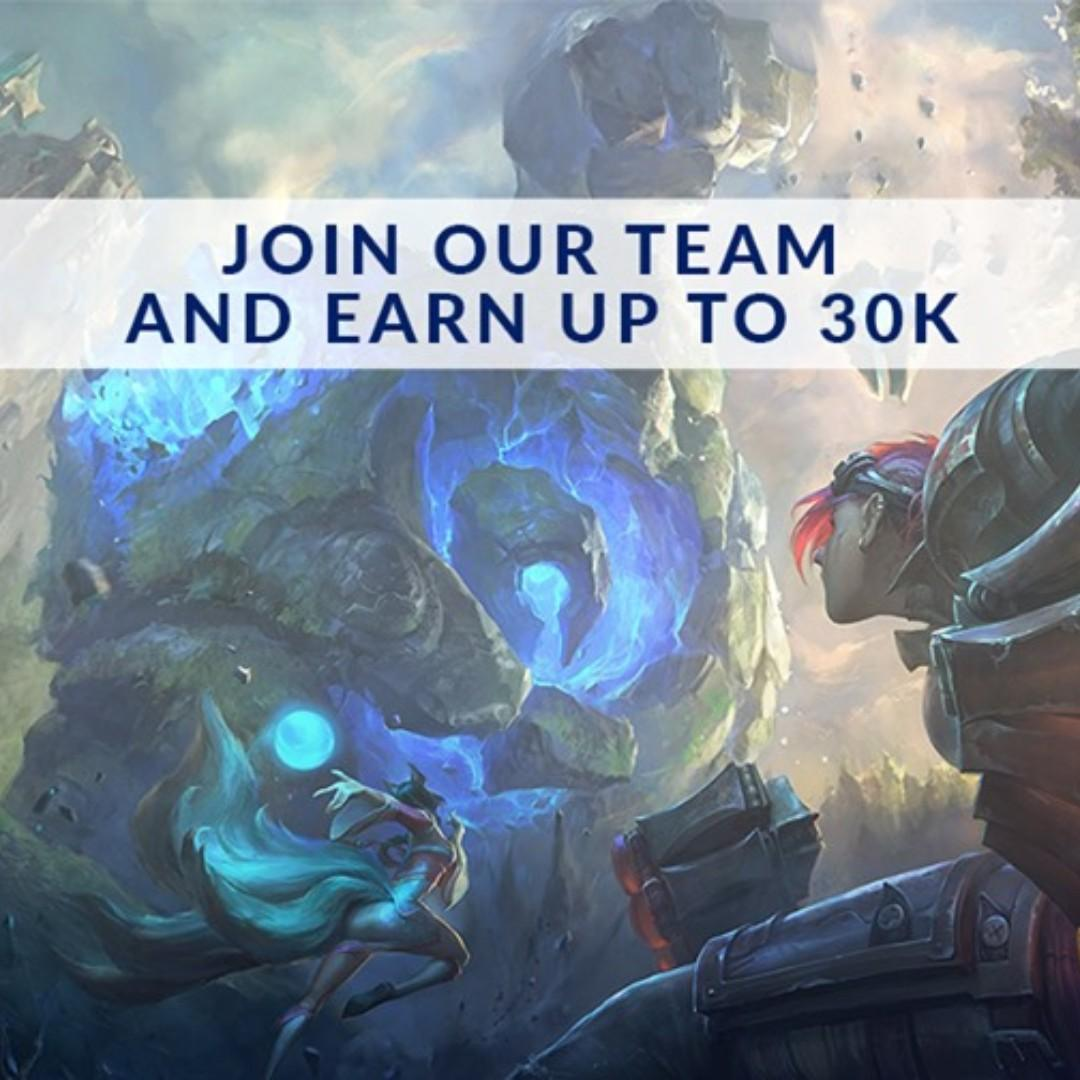 Player Support Team Leads for LoL on Carousell