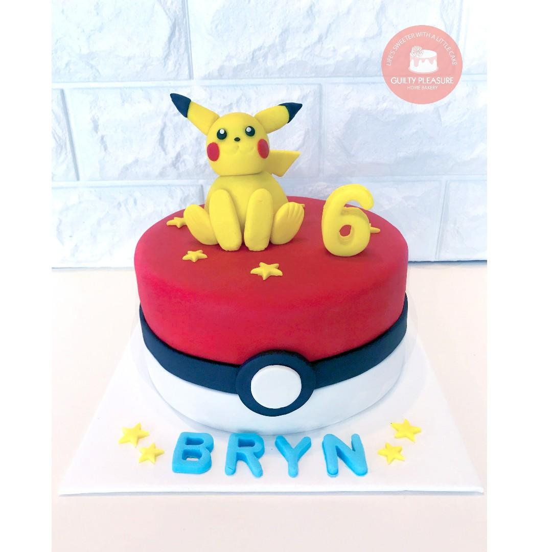 Incredible Pokemon Pikachu Birthday Cake Food Drinks Baked Goods On Carousell Funny Birthday Cards Online Sheoxdamsfinfo