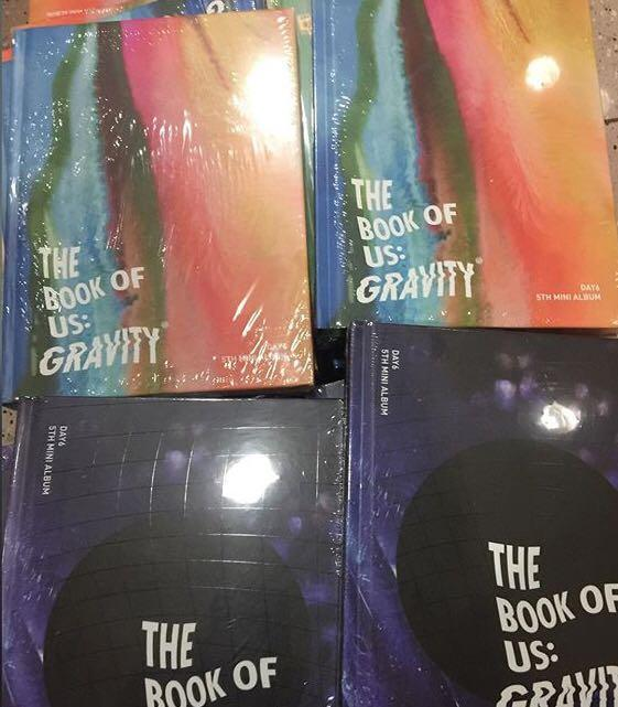 [Preorder] DAY6 5th Mini Album - The Book of Us : Gravity CD + Poster