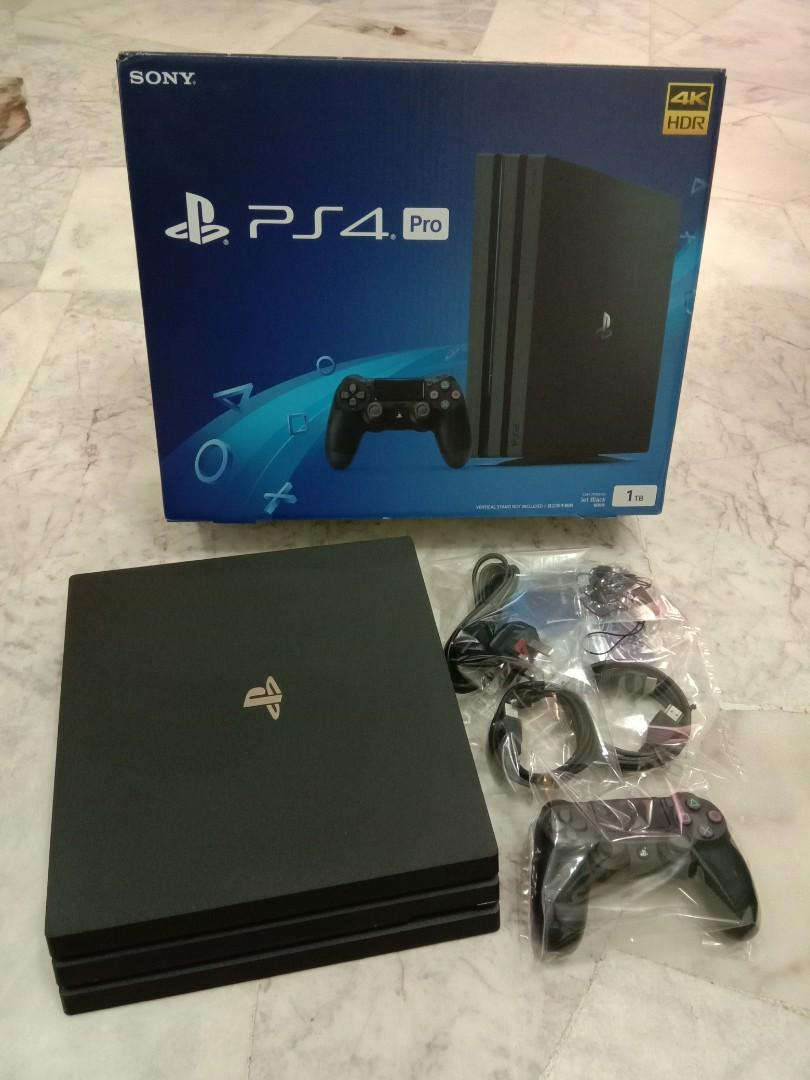 PS4 PRO 1TB JETBLACK on Carousell