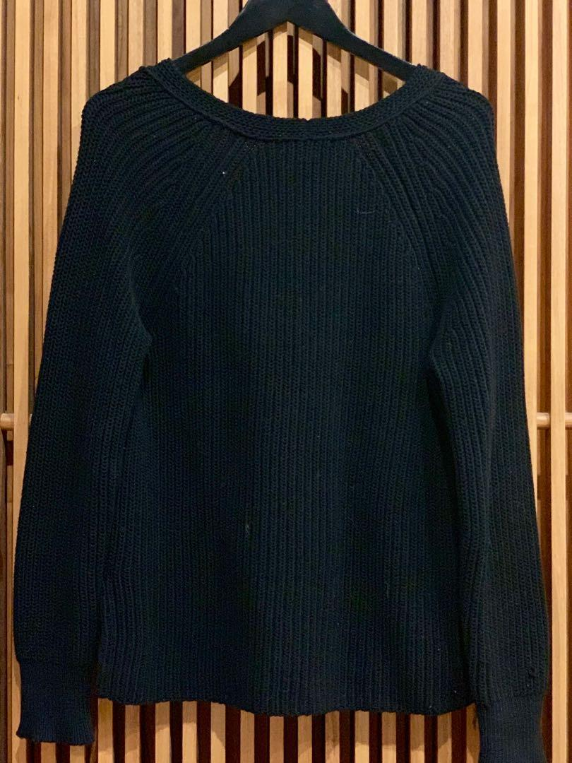 Rag And Bone Black Sweater Size S Fits (8-12) Good Condition