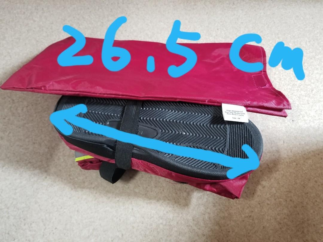 平!紅色螢光貼防水防跣護鞋套26.5cm